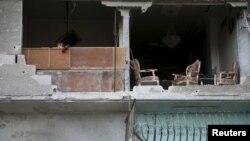 Разрушения в Восточной Гуте, ноябрь 2015 года