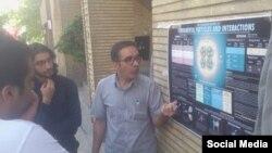 تدریس فیزیک در خیابان برای عابران