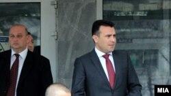 """Архивска фотографија - Премиерот Зоран Заев пред Основен суд Скопје 1, на судење за случајот """"Поткуп""""."""