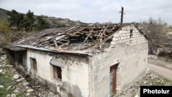 Nagorno-Karabakh - A house in Talish village damaged by Azerbaijani shelling, 6Apr2016.