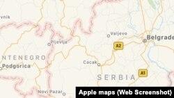 AppleMap Service-ზე გამოქვეყნებული კოსოვოს რუკის არაკორექტული ვერსია