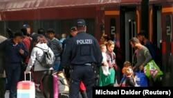 Беженцы на вокзале Мюнхена, 5 сентября 2015 года