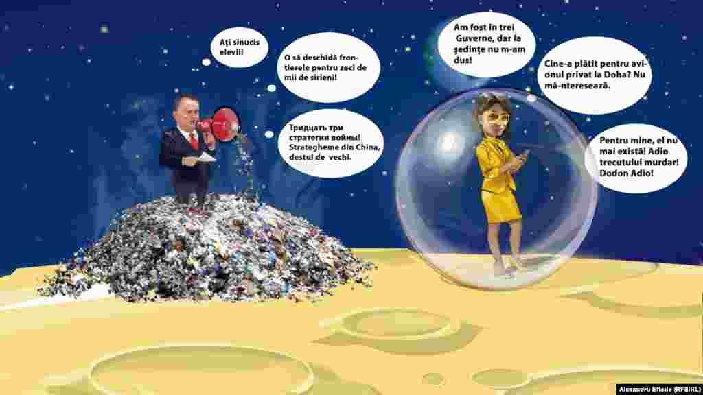 Maia Sandu și Igor Dodon și-au inventat în campanie fiecare lumea lui, departe de lumea alegătorilor.