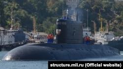 Российская дизельная подводная лодка «Краснодар» в Севастополе
