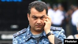 Armenia - Ashot Karapetian, the chief of Yerevan's police department, 25Jun2015.