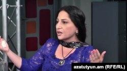 Лиана Зурабян в студии «Азатутюн ТВ», Ереван, 7 сентября 2017 г.