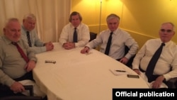 France - Armenian Foreign Minister Edward Nalbandian (second from right) meets with OSCE Minsk Group co-chairs in Paris, 2Jun2016