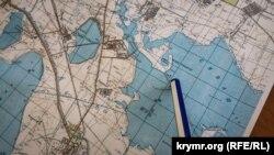 Фрагмент карты со смежными территориями Крыма и Херсонщины