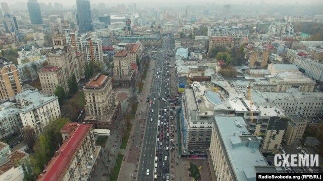 Нинішній вигляд головної вулиці Києва
