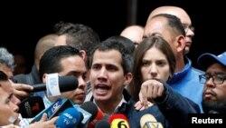 Хуан Гуайдо, лидер оппозиции Венесуэлы, объявивший себя временным президентом.