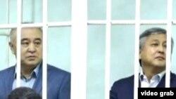 Омурбек Текебаев и Дуйшенбек Чотонов.