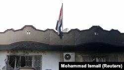 سفارت عراق در کابل پس از حمله داعش
