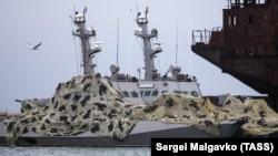 Захваченные ФСБ у берегов Крыма украинские военные катера «Бердянск» и «Никополь»