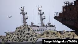 Катера «Бердянск» и «Никополь» на стоянке в Керчи.