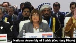 Maja Gojković sastanku predsednika parlamenata zemalja evroazijskog regiona u Kazahstanu