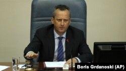 """ჩრდილოეთ მაკედონიის პარლამენტის ყოფილი თავმჯდომარე, ტრაიკო ველიანოვსკი, რომელიც ორ ყოფილ მინისტრთან ერთად დააკავეს """"ტერორისტულ შეთქმულებასთან"""" კავშირის ბრალდებით"""