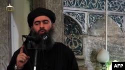 ИМ лидері Әбу Бакр әл-Бағдади деп жарияланған видеоның скришоты.