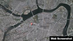 Местонахождение петербургской квартиры Анны Собяниной (скриншот блога Алексея Навального)