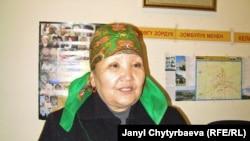 """Дарийка Асылбекова, Оштогу """"Ак жүрөк"""" кризистик борборунун жетекчиси."""