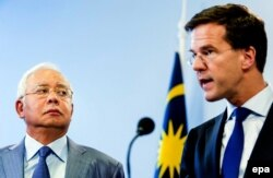 Малайзийский премьер Раджиб Назак и его нидерландский коллега Марк Рютте