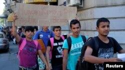 Migranti krenuli iz Beograda prema mađarskoj granici, 22. juni 2016.