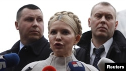 Ukrainian former prime minister Yulia Tymoshenko has denied wrongdoing and accused the government of pursuing a political prosecution of her.