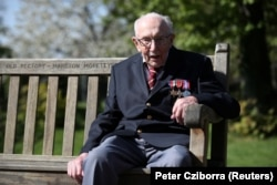 Retired British Army Captain Tom Moore recently turned 100 after raising $40 million for Britain's National Health Service by walking laps in his garden.