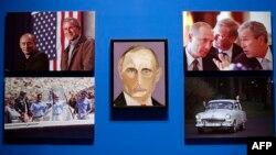 AQShning 43-prezidenti kichik Jorj Bush tarafidan chizilgan Vladimir Putin portreti.