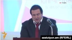 Лидер партии «Процветающая Армения» выступает на конференции, Абовян, 5 февраля 2015 г․