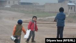 Бағыс ауылының балалары. Оңтүстік Қазақстан облысы, 19 желтоқсан 2015 жыл.