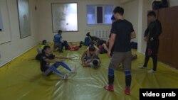 Спортзал в мечети в Бишкеке.