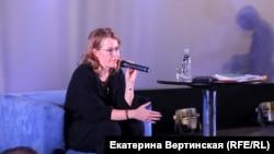 Кандидат в президенты России телеведущая Ксения Собчак.