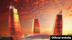 Проект «Башни Огня» размещается рядом со зданиями парламента Азербайджана и с видом на Каспийское море. Открытие проекта запланировано на начало 2011 года