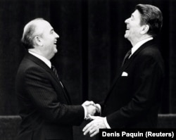 Роналд Рейган менен Михаил Горбачев. Женева. 19.11.1985.