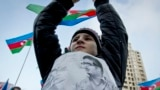 Azerbaijan -- opposition protest, flag holiday, Baku, 9 November 2014
