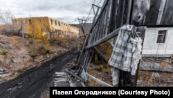 Территория бывшего лагеря на Колыме