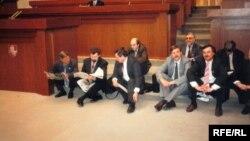 Галадоўка дэпутатаў Вярхоўнага Савету 11 красавіка 1995 году