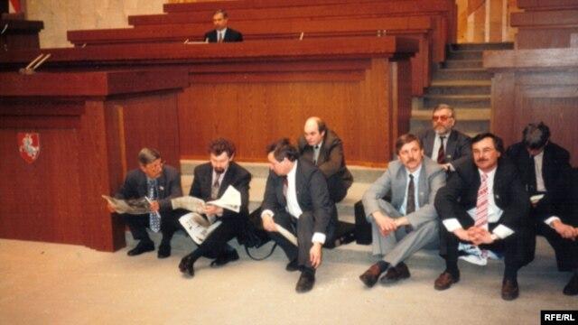 галадоўка дэпутатаў Вярхоўнага Савету 12 красавіка 1995 году