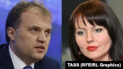 Transdniester's Yevgeny Shevchuk (left) and Nina Shtanski are set to be married, and she will take a new job.