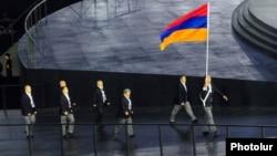 Հայկական պատվիրակությունը Եվրոպական խաղերի ժամանակ, 12-ը հունիսի, 2015թ.