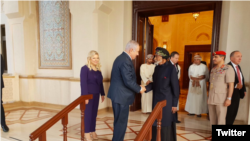 Israel's Netanyahu met the Sultan of Oman in late October. According to the official statement the two discussed 'ways to promote peace in the Middle East'. File photo