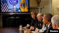 ԱՄՆ-ի նախագահ Բարաք Օբաման տեսակոնֆերանս է անցկացնում էբոլայի դեմ պայքարի հարցերով, Վաշինգտոն, 15-ը հոկտեմբերի, 2015թ․