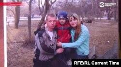 Ruski plaćenik Matvejev, sa suprugom Jelenom i djetetom