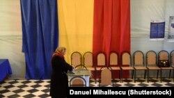 La o secție de votare în Moldova