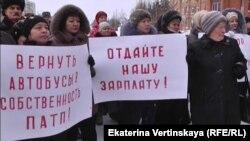 Одна из предыдущих протестных акций транспортников в Усть-Илимске