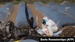 На месте падения самолёта. 1 апреля 2019 года