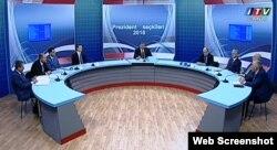 İctimai Televiziyada prezidentliyə namizədlərin debatı. 19 mart 2018