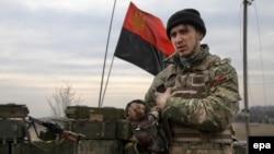 «Правий сектор» на позиціях біля села Тоненьке під Донецьком, березень 2015 року