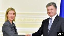 Федеріка Моґеріні і Петро Порошенко