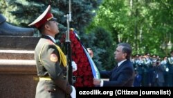 Президент Узбекистана Шавкат Мирзияев. Ташкент, 9 мая 2018 года.